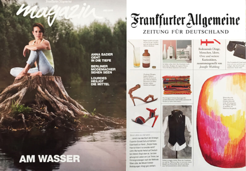 Das FRANKFURTER ALLGEMEINE Magazin stellt DORNSCHILD als besonderes und modernes Westen-Label vor.