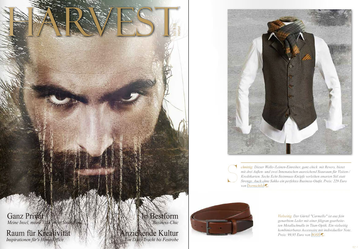 HARVEST luxury magazine reports about the stylish look from DORNSCHILD.