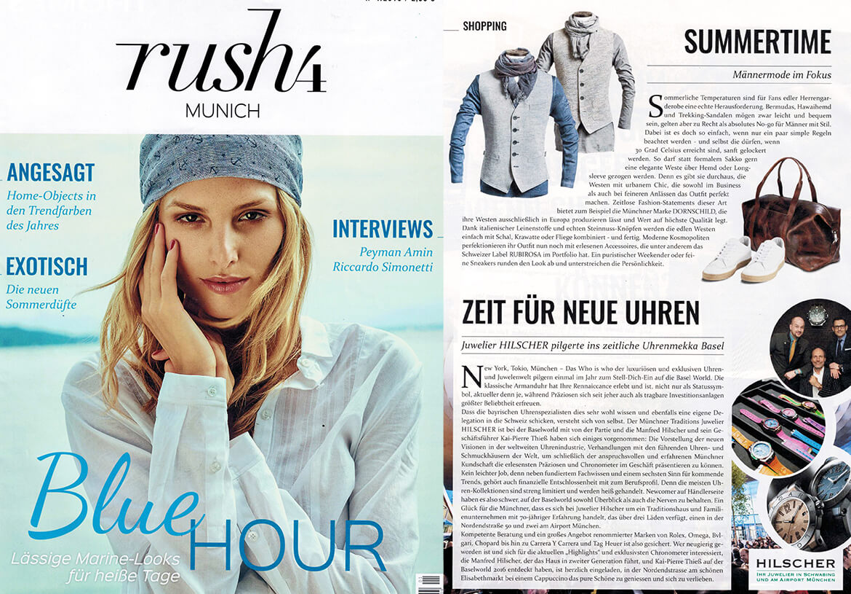 Das Münchner Fashion Magazin RUSH4 berichtet über DORNSCHILD und seine stylische Herrenwesten für den Sommer.