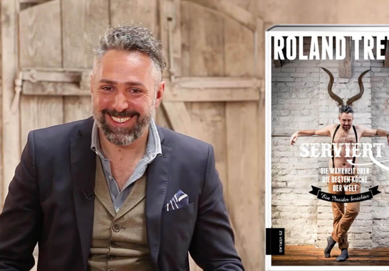 Starkoch Roland Trettl präsentiert sein neues Buch in einer Weste von DORNSCHILD.