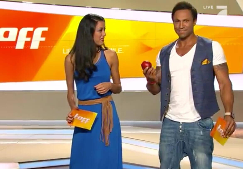 Casual and funny – TV presenter Daniel Aminati in a men's vest by DORNSCHILD.