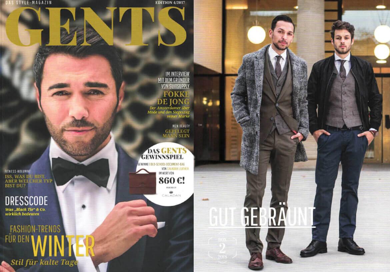 DORNSCHILD als Gentleman Brand in dem GENTS Männermagazin.