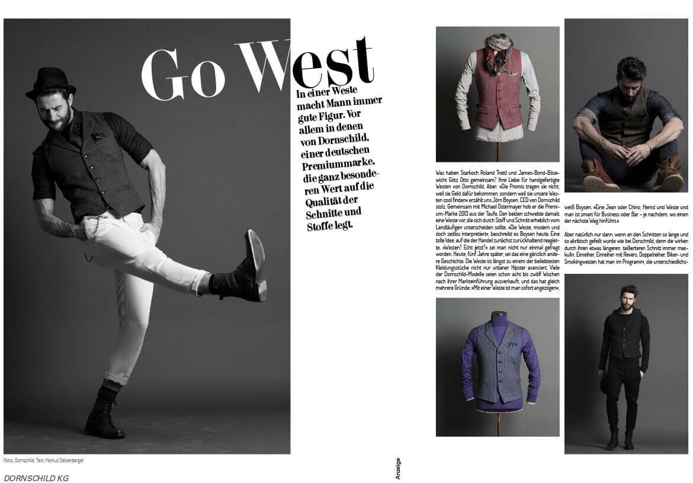 Das Premium Fashion- & Lifestyle Magazin COCO berichtet über DORNSCHILD für den modernen und stilvollen Mann.