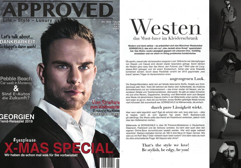 Das APPROVED Magazin empfiehlt – Westen, die man gesehen haben muss.