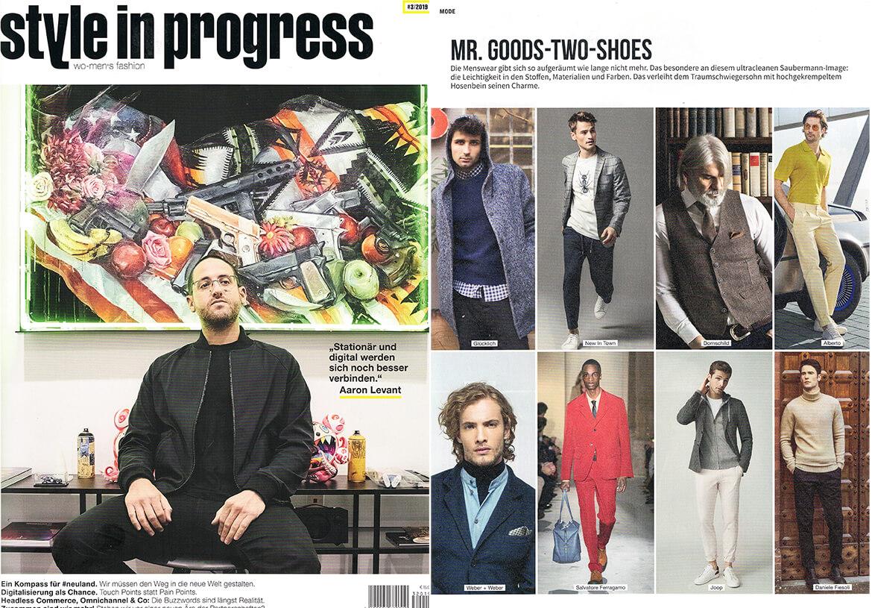 Das Mode-Fachmagazin STYLE IN PROGRESS berichtet in seinen Trend-Seiten über DORNSCHILD und seine Herrenwesten..