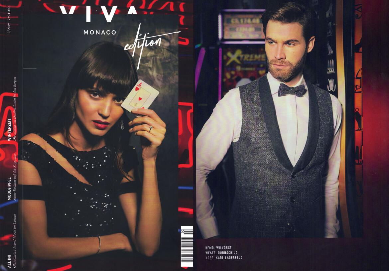 Das Fashion- & Lifestyle-Magazin VIVA MONACO präsentiert die neue und schick lässige Smoking Weste von DORNSCHILD.