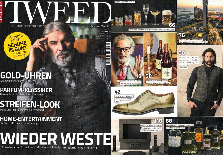 DORNSCHILD als Cover-Story von dem Männermagazin TWEED.