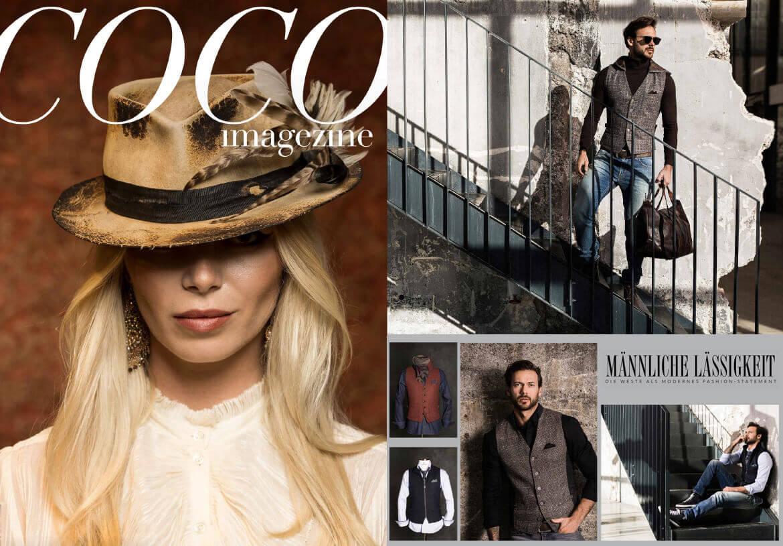 Das COCO Magazin berichtet über DORNSCHILD und seine Herren Westen als modernes und lässiges Fashion-Statement.